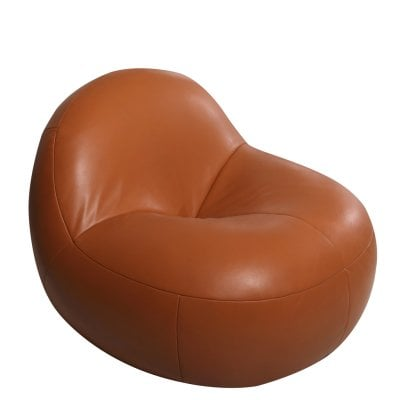 Easy chair SCOOP Cognac Leather