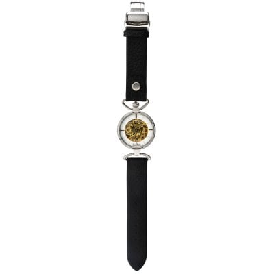 Wrist watch Lady Skeleton silver-skeleton-black