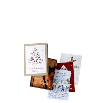Set of postcards 18 pcs. Decoration series Weihnachten