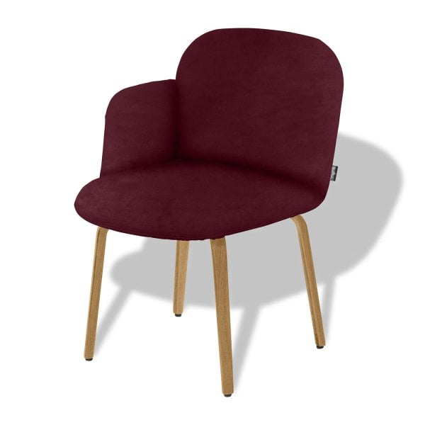 Chair armrest left BOLBO Wine Red Fabric
