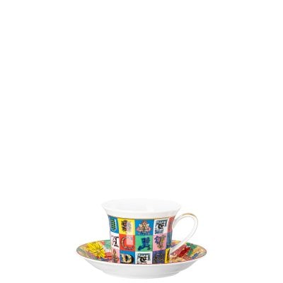 Tazza cappuccino Versace Holiday Alphabet