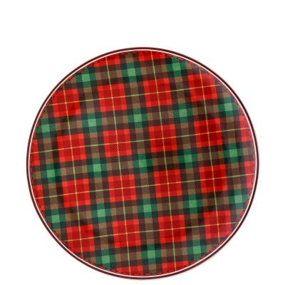 Biscuit plate 28 cm Cozy Winter Tartan