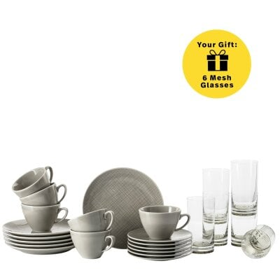 Set da 18 pz/tazza combi+bicchiere Mesh Colours Mountain