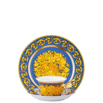 Set plate + cup & saucer / 25 years Versace Floralia Blue