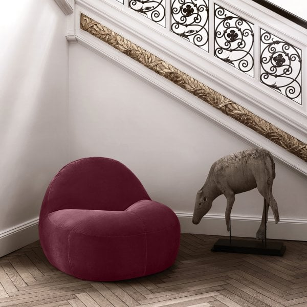 Poltrona / Poltroncina SCOOP Wine Red Tessuto
