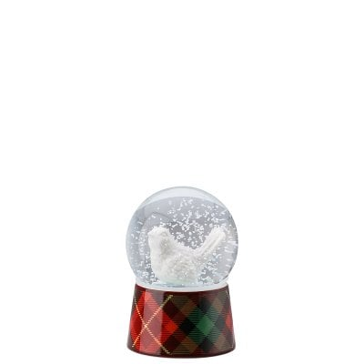 Glass sphere w. snow effect Cozy Winter Vogel