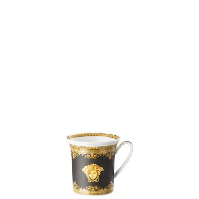 Mug with handle Versace Baroque Nero