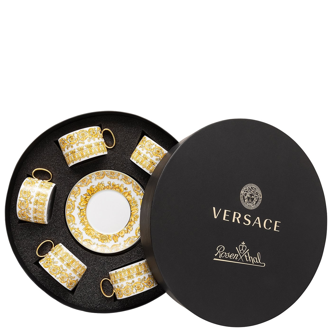 Versace by Rosenthal Medusa Rhapsody Red Bread and Butter Plate 6.5