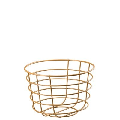 Metal Basket 20 ONO Metall, clay brown