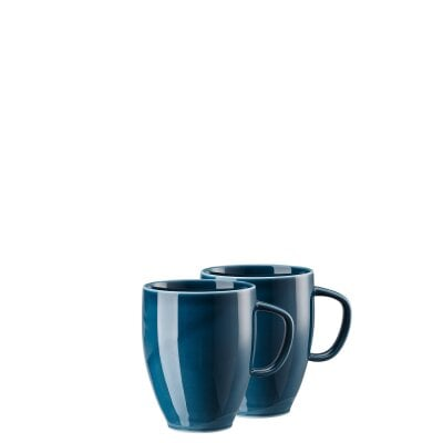 Set 2 mugs w. handle Junto Ocean Blue
