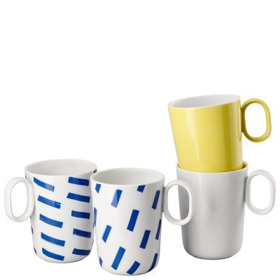 Set 4 mugs with handle ONO friends Mixed