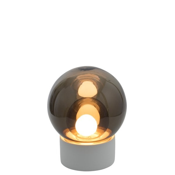 Boule Small white, Glass smoky grey