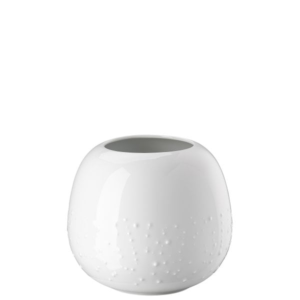 Vase 16 cm Droplets White