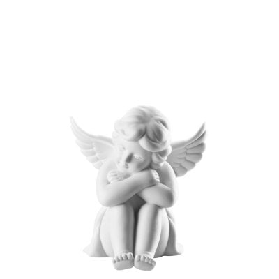 Angel sitting 10 cm Angel middle White-mat