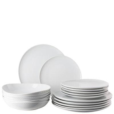 Set 18 pcs. with plates Junto White