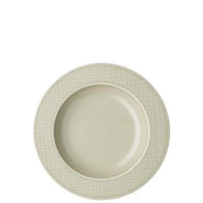 Rim plate 23 cm deep Mesh Colours Cream