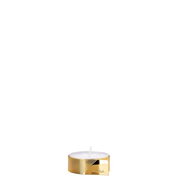 Tealight holder 4 cm Silver Collection Tealight Gold
