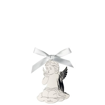 Pendant Angel kiss on hand 8,5x6 cm Silver Collection Angels Silver