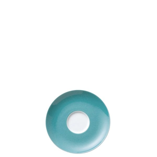 Saucer 4 tall & 4 low Sunny Day Turquoise