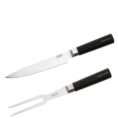 Set 2 pcs. Meat fork & knife Taste your life Fire Food-BlackKnife
