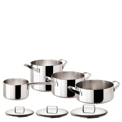 Set 7 pcs pots and pans Menu Stainless steel 18/10