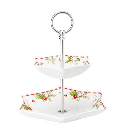Etagere 2 tiers Decoration series Weihnachtsleckereien