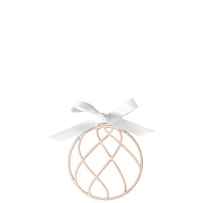 Pendant Christmas Ball 8 cm Silver Collection Christmas Rose Gold