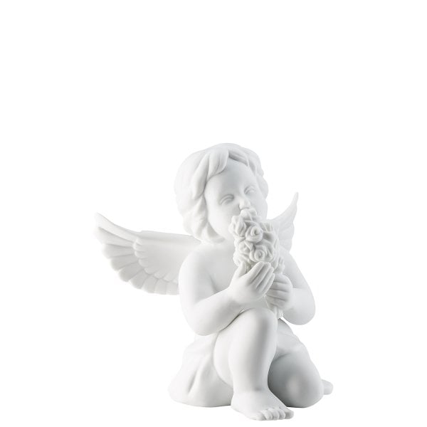 Angel with flowers Angel big White-mat
