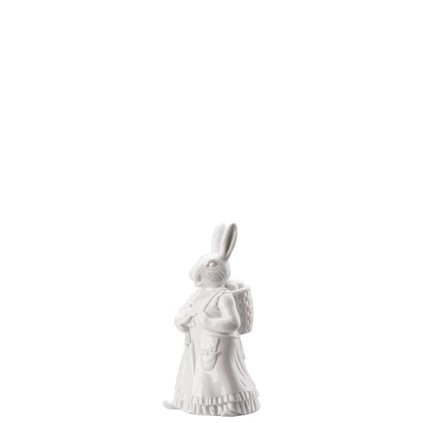 Lady hare with basket Hasenfiguren White