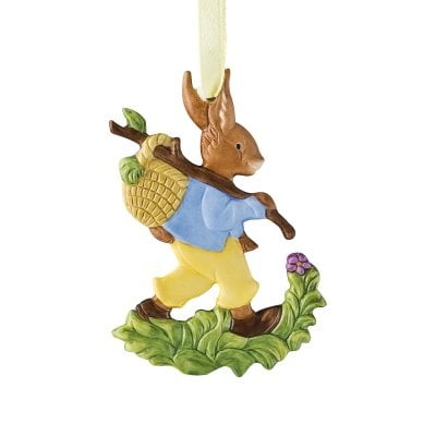 Easter ornament »Hare with basket« Osteranhänger Handbemalt