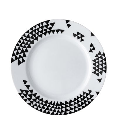 Assiette avec aile 28 cm Magic Garden Black Seeds