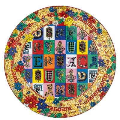 Piatto torta Versace Holiday Alphabet
