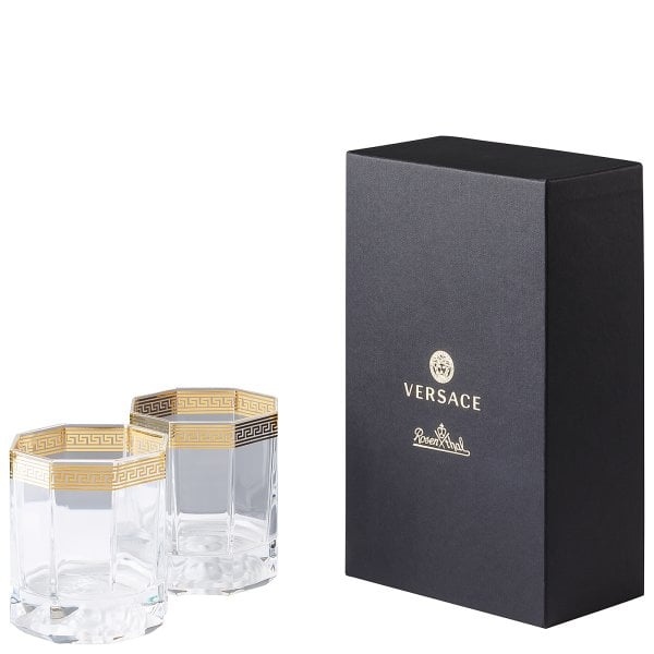 GK 2 Whisky-Becher Versace Medusa d'Or