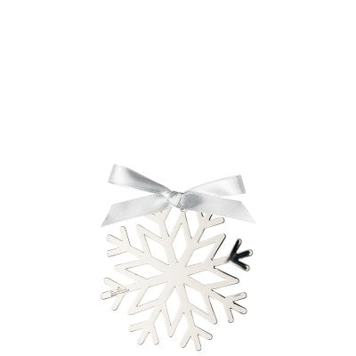 Pendant Snowflake 8 cm Silver Collection Christmas Silver