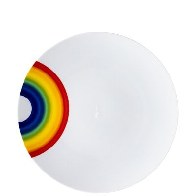 Plate 28 cm TAC Gropius - COLLECTION #331_RAINBOW by 'zoeppritz since 1828' x Rosenthal