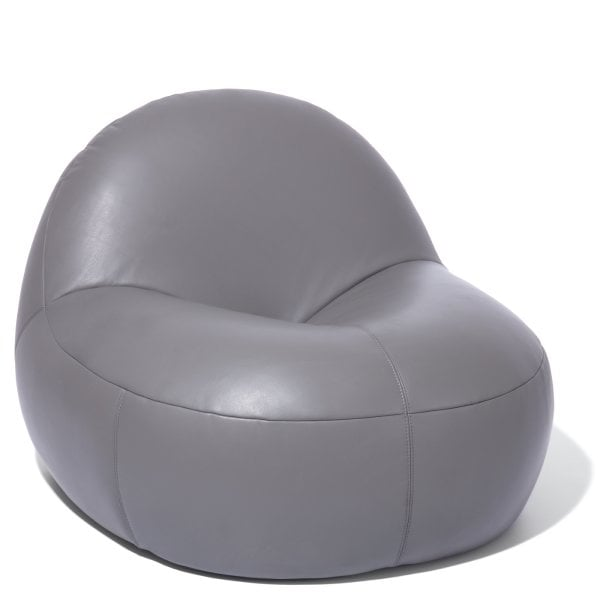 Easy chair SCOOP Grey Leather