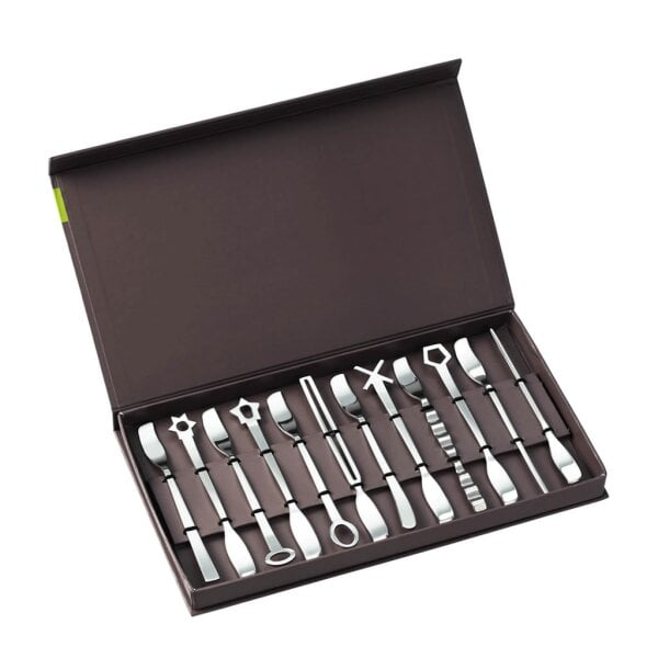 Set 12 pcs spatules party Living Edelstahl 18/10