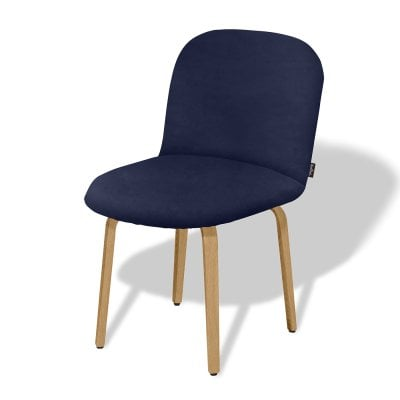 Chaise sans accoudoirs BOLBO Midnight Blue Tissu
