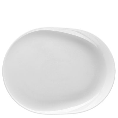 Plate oval 34 cm ONO White