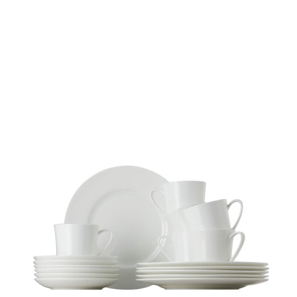 Coffee set 18 pcs. Jade White