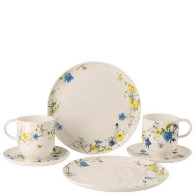 Set 6 pcs. with mugs and coup plates Brillance Fleurs des Alpes