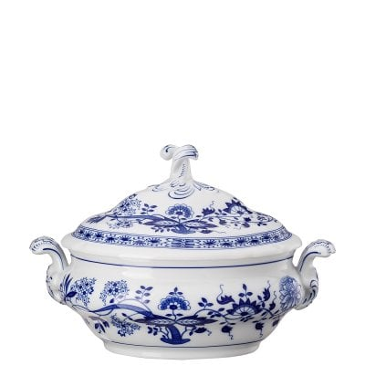 Covered vegetable bowl Blau Zwiebelmuster