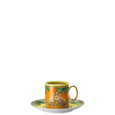 Tazza caffè alta Versace Jungle Animalier