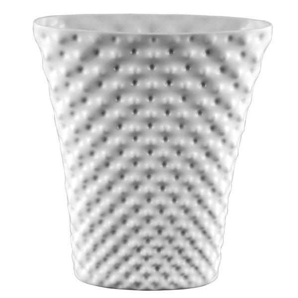 Vase 32 cm oval Vibrations White