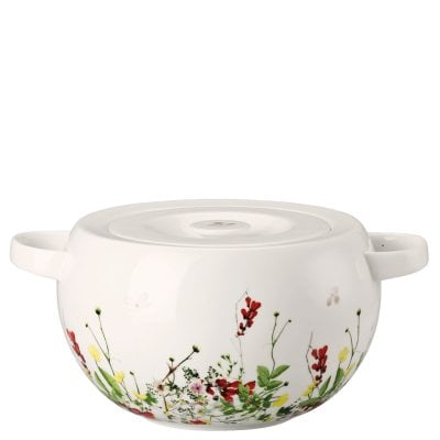 Covered vegetable bowl Brillance Fleurs Sauvages
