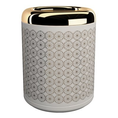 Waste bin Equilibrium Circles White Gold