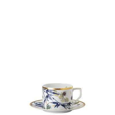 Combi cup with saucer Rosenthal Heritage Turandot white