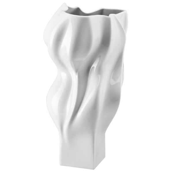Vase 40 cm Blown White