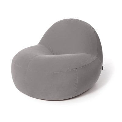 Armchair SCOOP Elephant Grey Fabric