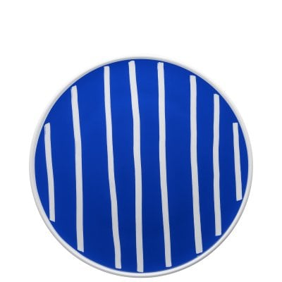 Piatto piano 27 cm ONO friends Blue White Lines